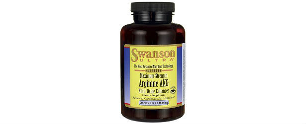 Maximum Strength Arginine AKG Nitric Oxide Enhancer Swanson Vitamins Review 615